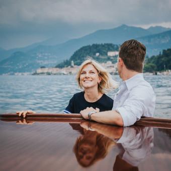 Proposta di matrimonio sul lago di Como